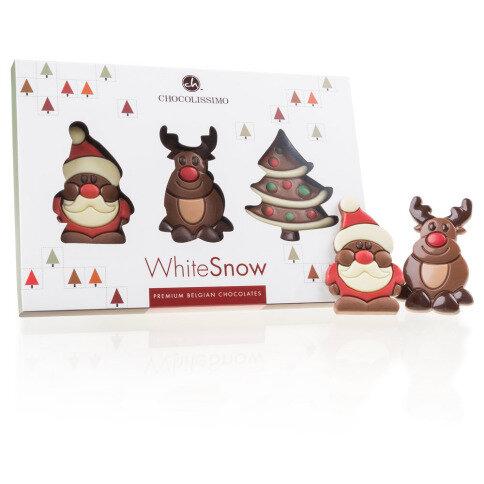 Chocolissimo - 3 originální vánoční čokoládové figurky 30 g