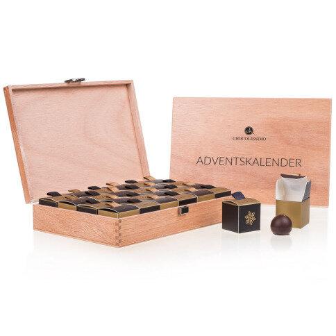 Chocolissimo - Adventní kalendář v dřevěném kufříku 288 g