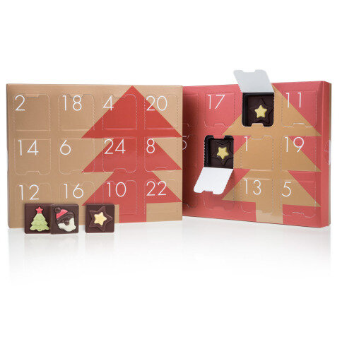 Chocolissimo - Adventní kalendář - 3 druhy pravé belgické čokolády 180 g