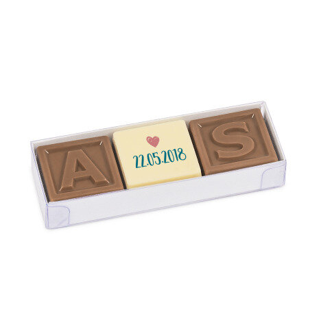 Chocolissimo - Svatební mini čokoládky pro hosty 28 g