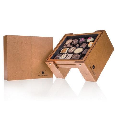 Levně Chocolissimo - ChocoBar - Pralinky v elegantní dřevěné krabičce 185 g