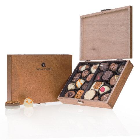 Chocolissimo - ChocoClassic - Pralinky v elegantní dřevěné krabičce 250 g
