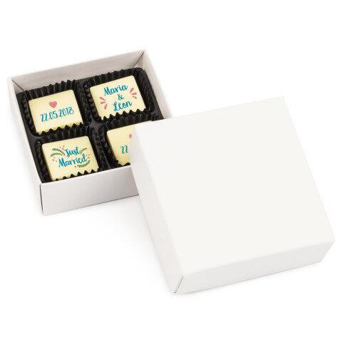 Chocolissimo - 4 svatební čokolády s potiskem 38 g