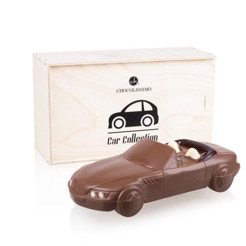 Chocolissimo - Čokoládová figurka BMW Z3 v dřevěné skřínce 175 g