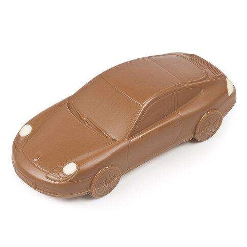 Chocolissimo - Čokoládová figurka Porsche 911 v dřevěné krabičce 125 g