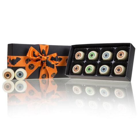 Chocolissimo - Strašidelné oči-čokoládové pralinky v krabičce XL 80 g