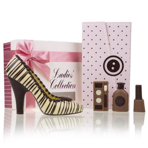 Chocolissimo - Sada dámských čokoládek - kosmetická sada a střevíček 210 g