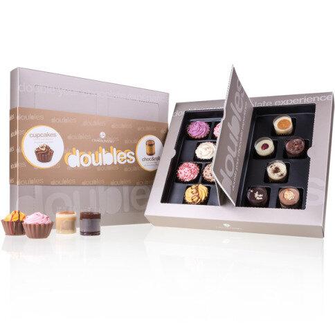 Chocolissimo - Doubles Around - luxusní pralinková sada Cupcakes & Choc & Roll 150 g
