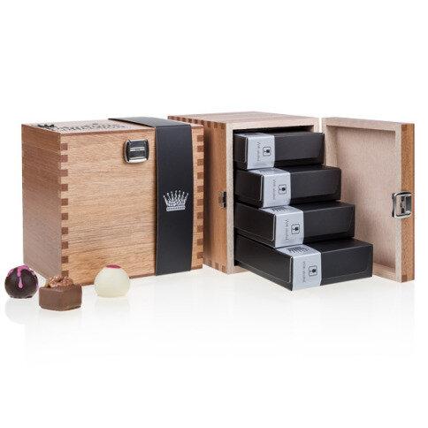 Chocolissimo - Fabulous s alkoholem - Pralinky v elegantní dřevěné krabičce 500 g