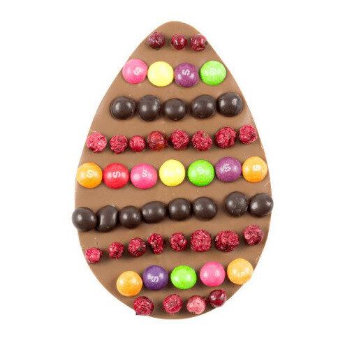 Chocolissimo - Tabulka mléčné čokolády ve tvaru velikonočního vajíčka 100 g
