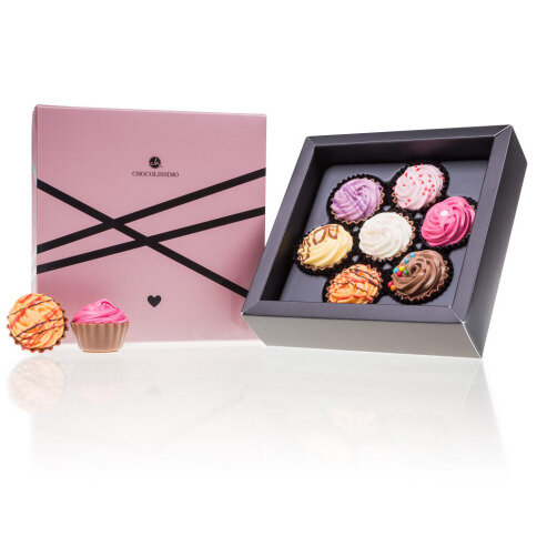 Chocolissimo - Pralinky Cupcake pro zamilované 7ks 130 g