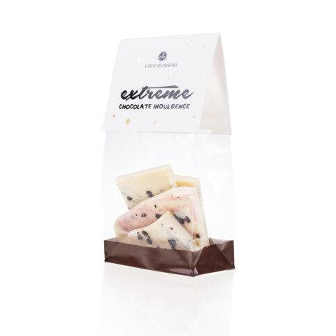 Chocolissimo - Mini bílá čokoláda - borůvka a malina 100 g