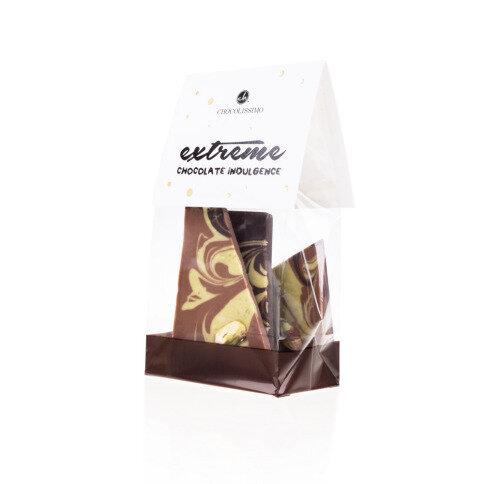 Chocolissimo - Mini mléčno-hořká čokoláda - pistáciová 100 g