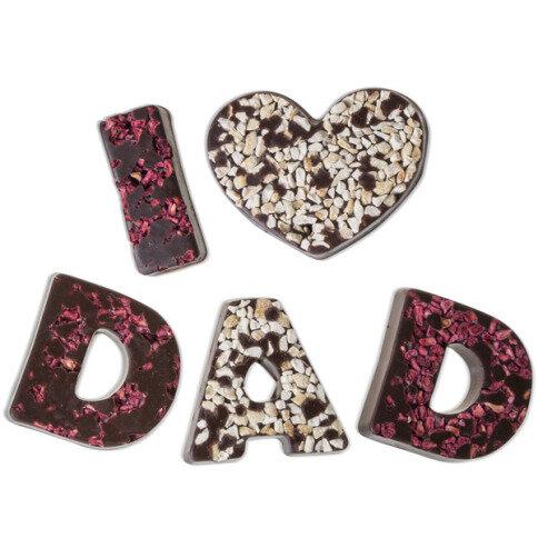 Chocolissimo - I love Dad - hořká čokoláda 80 g