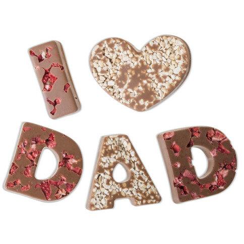 Chocolissimo - I love Dad - mléčná čokoláda 80 g