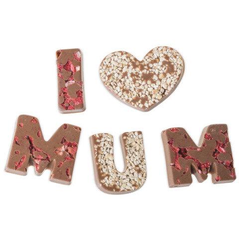 Chocolissimo - I love Mum - mléčná čokoláda 80 g