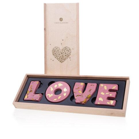 Chocolissimo - Čokoládové vyznání lásky - čokoláda Ruby 80 g