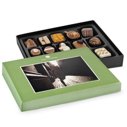 Chocolissimo - Zelená bonboniéra s vlastní fotografií - střední velikost 180 g
