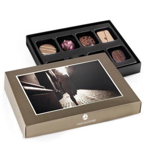 Chocolissimo - Zlatá bonboniérka s vlastní fotografií - mini 100 g