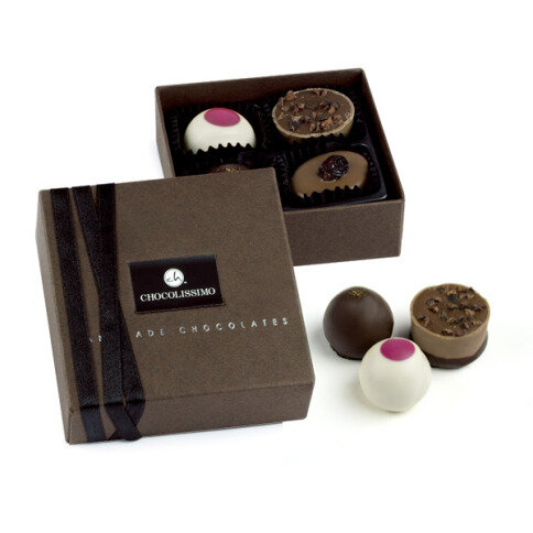 Levně Chocolissimo - Quartet - luxusní bonboniéra s pralinkami 50 g