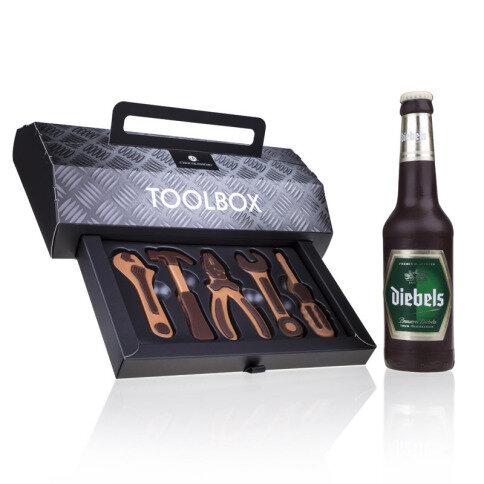 Chocolissimo - Box s nářadím a čokoládová pivní láhev 230 g