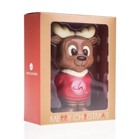 Chocolissimo - Vánoční sob v svetříků v krabičce s okénkem 75 g