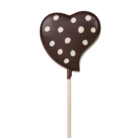 Chocolissimo - Lízátko-srdce z hořké čokolády 20 g