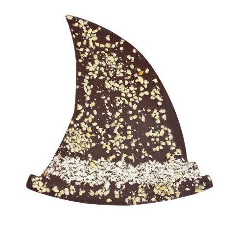 Chocolissimo - Čokoláda ve tvaru klobouku čarodějnice - hořká čokoláda 125 g