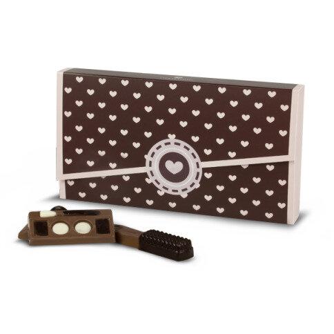 Chocolissimo - Sada kosmetiky v krabičce s srdíčky 90 g