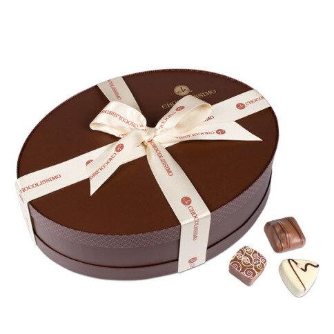 Chocolissimo - Luxusní dárkové set pralinek v oválné krabičce 320 g