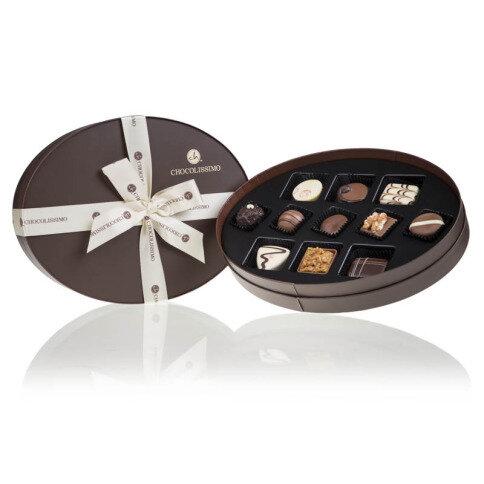 Levně Chocolissimo - Luxusní sada 11 pralinek v oválné krabičce 135 g
