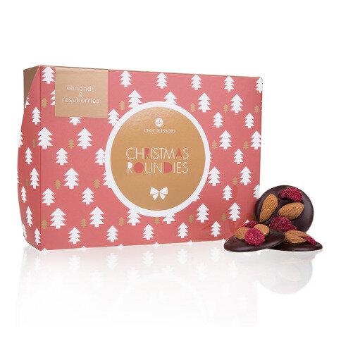 Chocolissimo - Vánoční čokoládová pochoutka s malinami a mandlemi 130 g