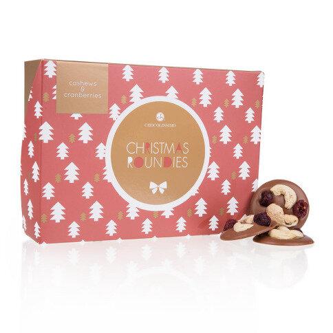 Chocolissimo - Vánoční mléčné čokoládky s kešu a brusinkami 130 g